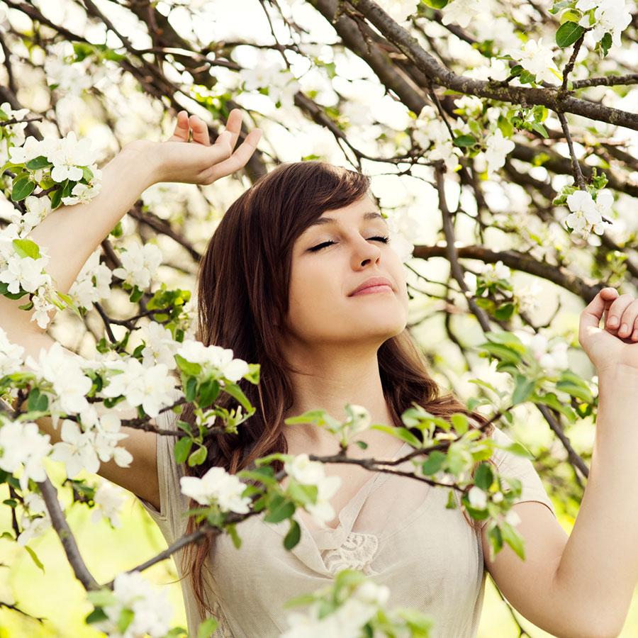 Spring tree smile